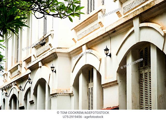 Newly renovated French colonial building, Setthatirath Road, Vientiane, Laos