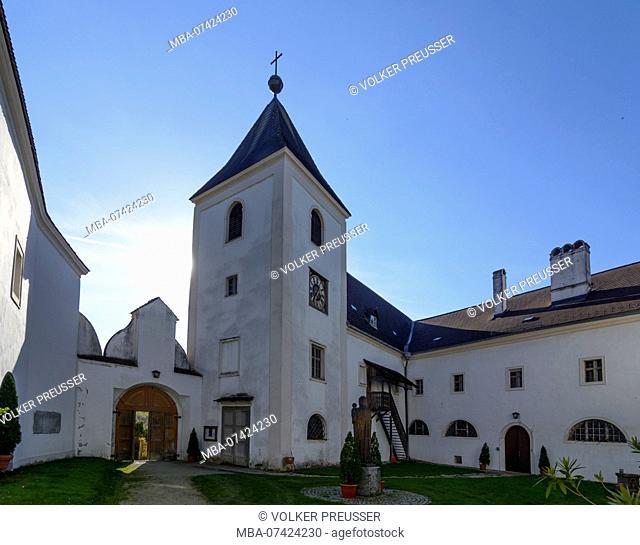 Schönbühel-Aggsbach, former Schönbühel Abbey, church, Wachau, Lower Austria, Austria