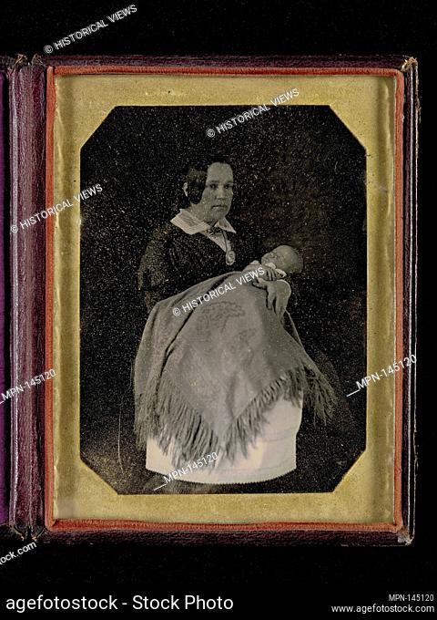 [Mrs. Thomas Ustick Walter and Her Deceased Child]. Artist: William Langenheim (American, born Germany, Schöningen 1807-1874); Date: ca
