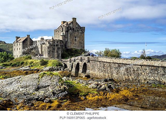 Eilean Donan Castle in Loch Duich, Ross and Cromarty, Western Highlands of Scotland, UK