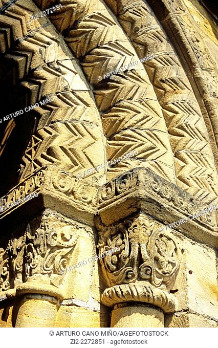 Romanesque Abbey, XIIth century. Dunfermline, Fife, Scotland, United Kingdom