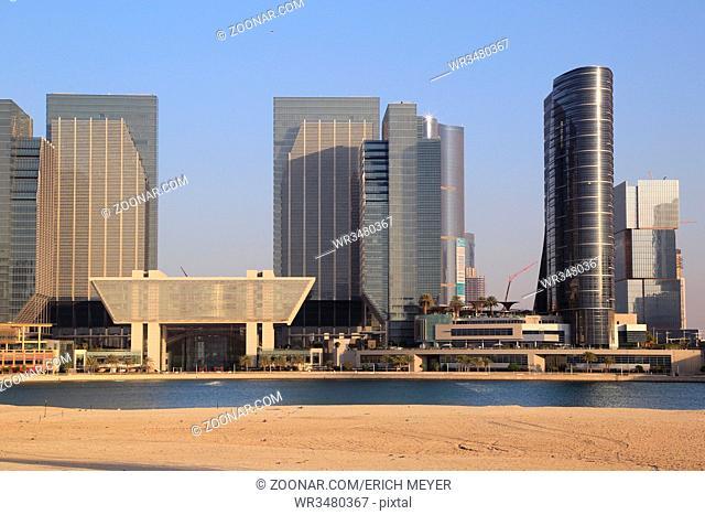 Abu Dhabi, Skyline bei Al Maryah Island