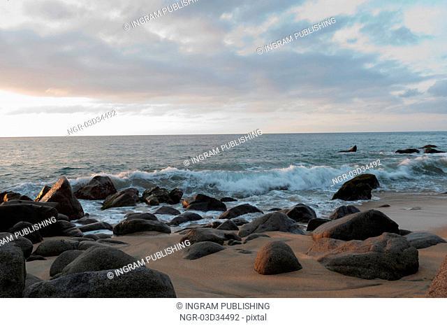 Rocks on the beach, Sayulita, Nayarit, Mexico
