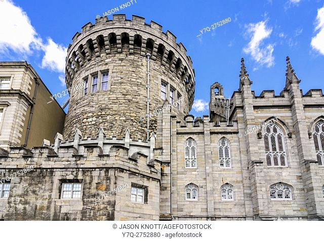 The Norman Record Tower, now housing the Garda Museum and Archives at Dublin Castle, Dublin, Ireland