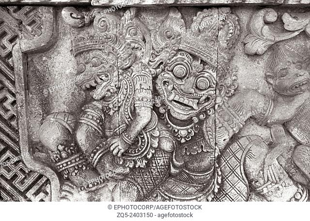 Singaraja temple, The semi divine beings. Bali Indonesia
