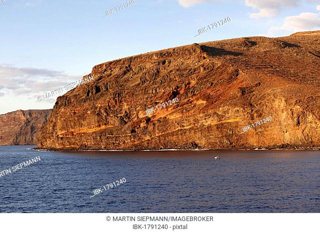 Coast south of San Sebastian, La Gomera, Canary Islands, Spain, Europe