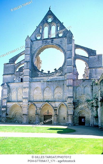 tourism, France, picardie, aisne, longpont, longpont abbey, gothic art, relic, forrest of retz, herb, historical monument Photo Gilles Targat
