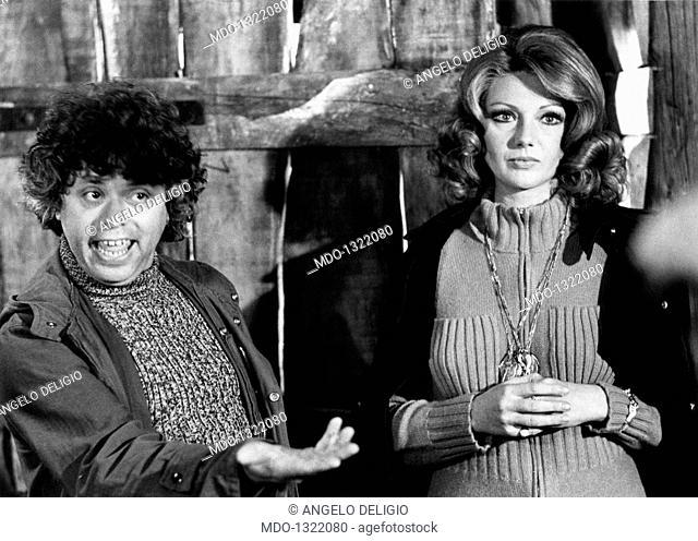 Sylva Koscina and Lino Toffolo in 'Beati i ricchi'. Croatian-born Italian actress Sylva Koscina and Italian actor, singer and songwriter