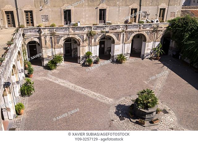 Cloister, Monastero di San Giuliano, Catania, Sicily, Italy