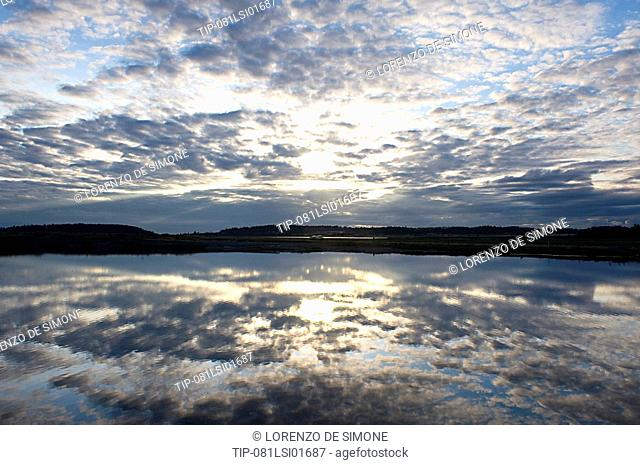 Usa, Washington State, Whidbey Island, sunset