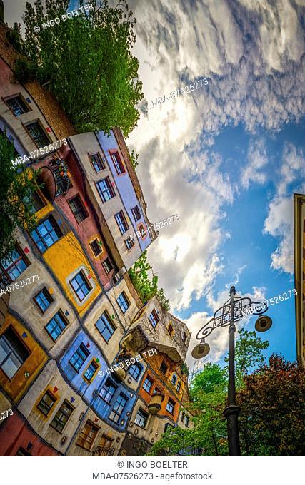 Europe, Austria, Vienna, Löwengasse Lane, Kegelgasse Lane, Hundertwasser House