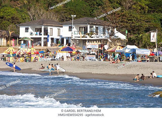 Philippines, Luzon island, La Union, San Fernando, the surfing beach of San Juan