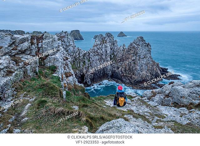 Pointe de Pen Hir, Camaret sur mer, Finistère département, Bretagne - Brittany, France, Europe