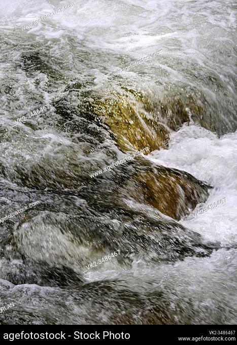 turbulent water Yosemite National Park California