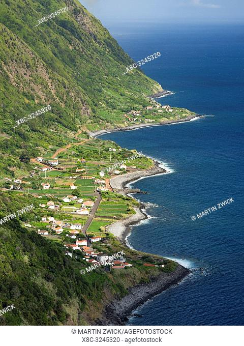 Faja dos Vimes. Sao Jorge Island, an island in the Azores (Ilhas dos Acores) in the Atlantic ocean. The Azores are an autonomous region of Portugal