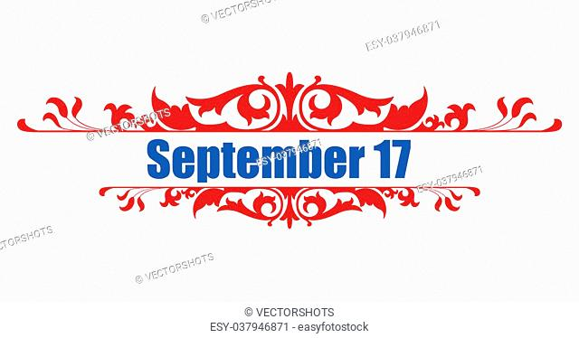 Drawing Art of September 17 - Constitution Day Vector Illustration