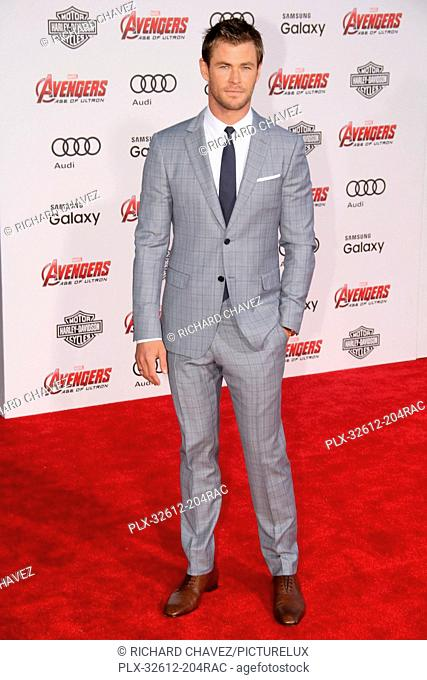 Chris Hemsworth at the World Premiere of Marvel's Avengers Age Of Ultron. Arrivals were held at The Dolby Theatre in Hollywood, CA, Monday, April 13, 2015