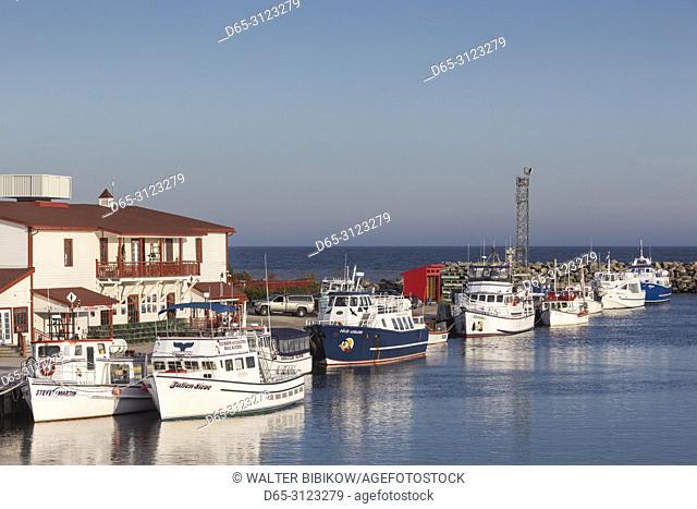 Canada, Quebec, Gaspe Peninsula, L'Anse-a-Beaufils, small harbor