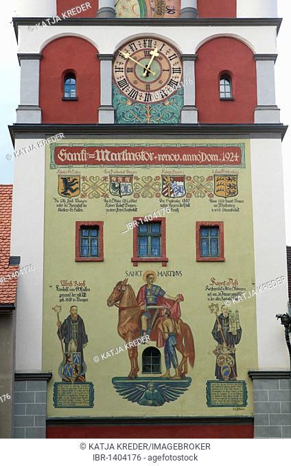St. Martinstor gate, Wangen im Allgaeu, Upper Swabia, Allgaeu, Baden-Wuerttemberg, Germany, Europe