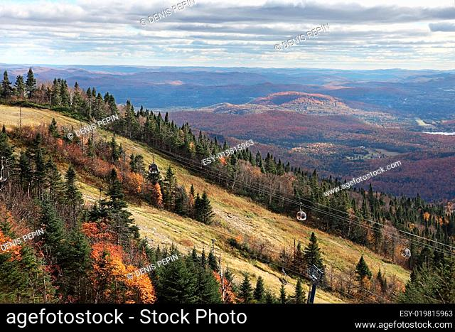 Fall Season on top of Mont-Tremblant, Quebec, Canada
