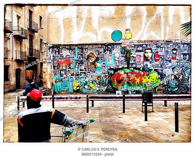 Graffiti in Born, Barcelona, Catalonia, Spain