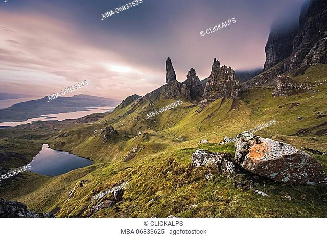 Old Man of Storr rock formation, Isle of Skye, Scotland