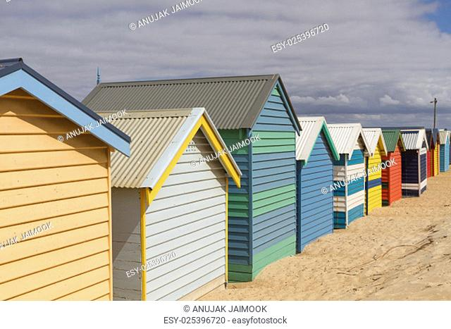 This photo was shot from Brighton Beach in Melbourne, Australia