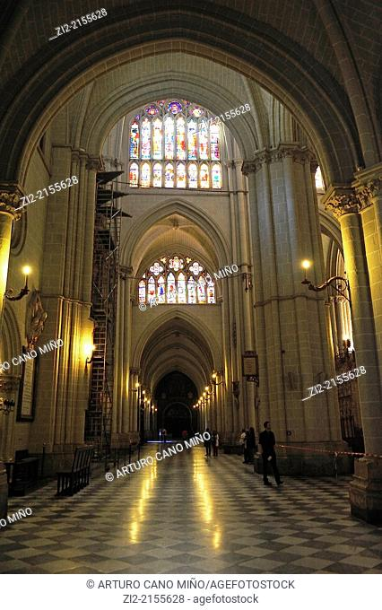 The Primate Cathedral of Saint Mary, Gothic, XIII-XV centuries, lateral nave, Toledo, Spain