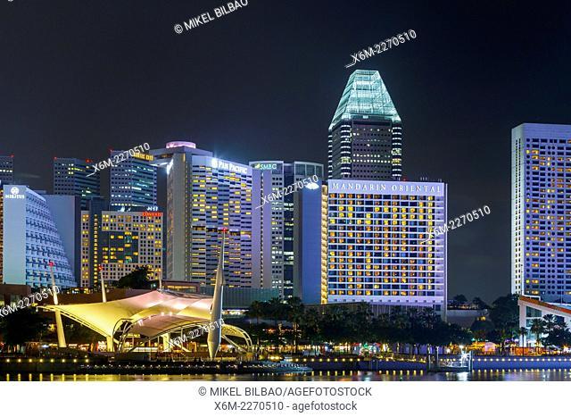 Skyscrapers. Singapore, Asia