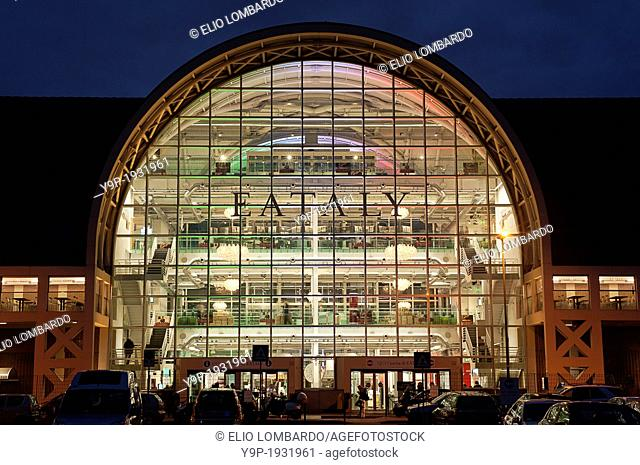 Exterior View of Eataly Rome. The Former Terminal of Ostiense. Rome, Italy