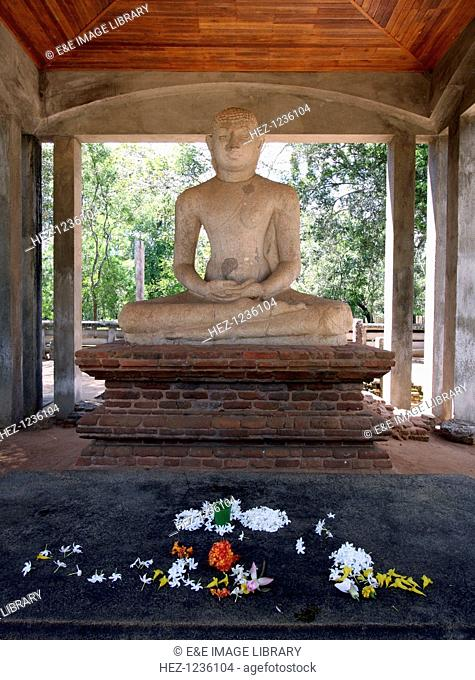 Samadhi Buddha statue, Anuradhapura, Sri Lanka. In Buddhism, a Buddha is any being that has become fully enlightened, has permanently overcome anger, greed