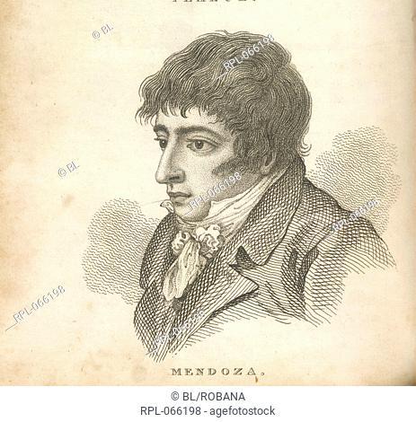 Daniel Mendoza 1764-1836. Pugilist/Boxer. Portrait. Known as the 'father of scientific boxing'. Billed himself as 'Mendoza the Jew'