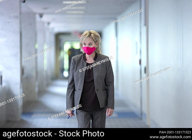 United States Senator Cindy Hyde-Smith (Republican of Mississippi) arrives to the GOP policy luncheons on Capitol Hill in Washington D.C., U.S