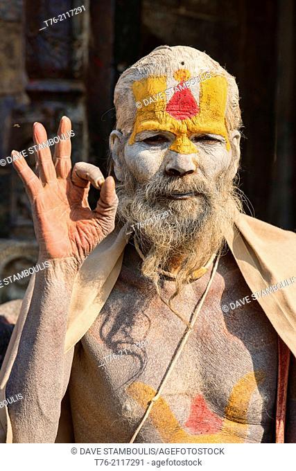 Portrait of a sadhu, Kathmandu, Nepal