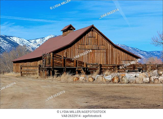 This barn is located in the Carson Valley, near Minden, Nevada, USA