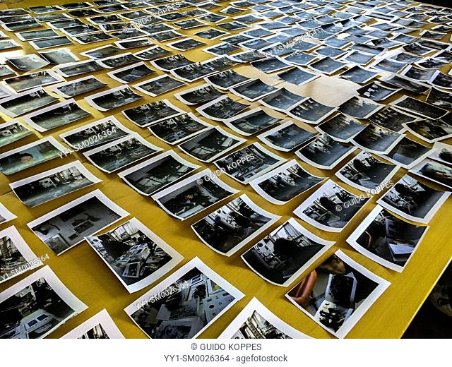 The Hague, Netherlands. Workshop photo selection in progress, selecting the best image for publication from a huge stack of simular images