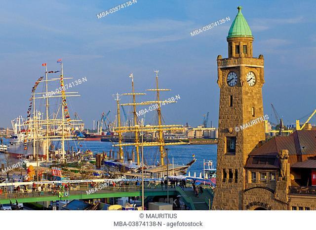 Europe, Germany, Hamburg, harbour, gangplanks, harbour festival, sailing ships