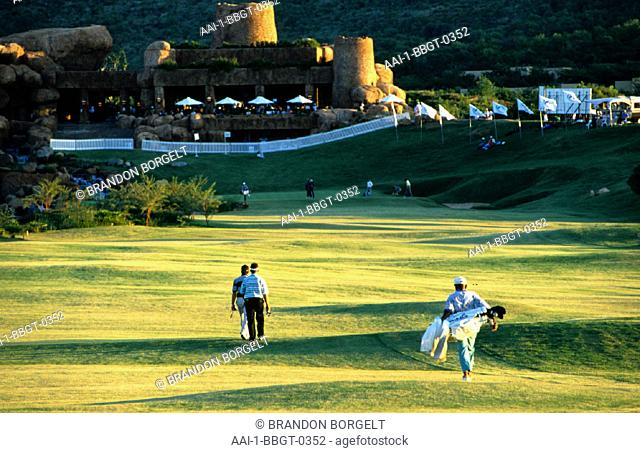 Golfers, Golf course, Palace of the Lost City, North West Province, South Africa