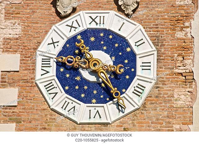symbolical Venetian lion, Arsenal ground entrance, detail, Venice, Italy