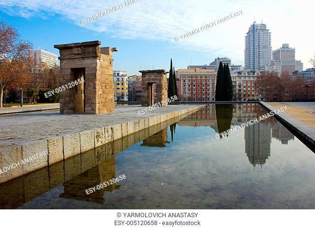 street in the center of Madrid, Spain