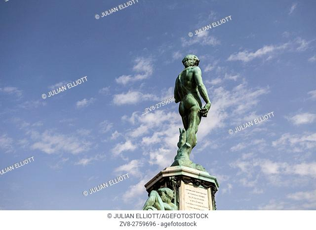 A bronze copy of the David in Piazzale Michelangelo, Florence