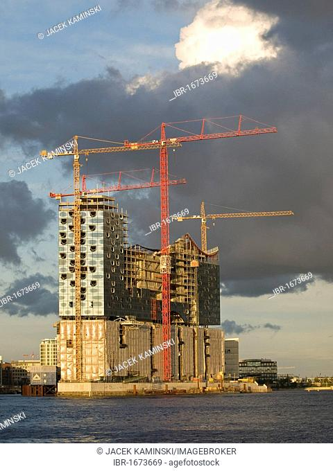 Elbe Philharmonic building site in HafenCity, Hamburg, Germany, Europe