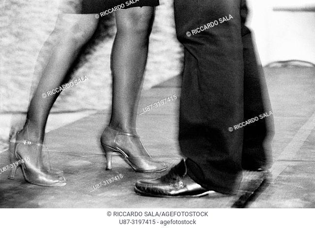 Couple Dancing Argentinian Tango