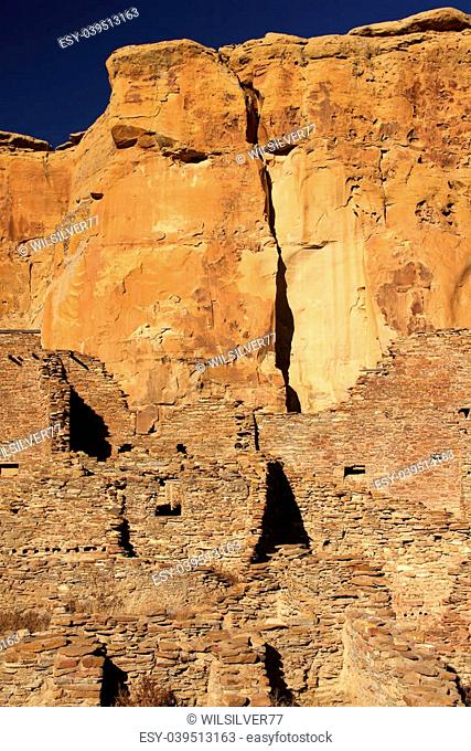 Pueblo Bonito Ruins in Chaco Culture National Historical Park, New Mexico