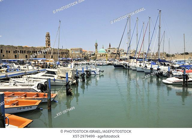 Israel, western Galilee, Acre, The ancient Harbour now a fishing port