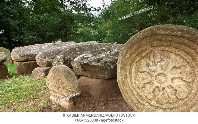 Necropolis of Argiñeta, Elorrio. VII-IX century a.C. Biscay province, Basque Country, Euskadi, Spain, Europe
