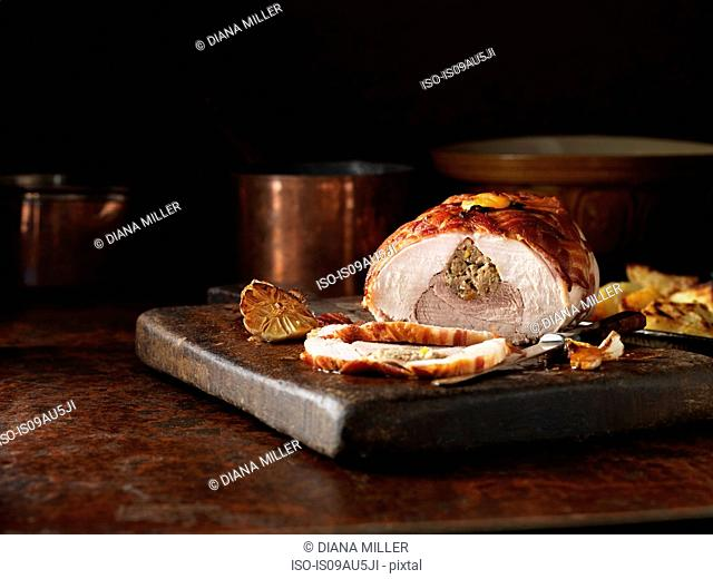 Turkey Joint with Pork, Apricot and Ginger Stuffing