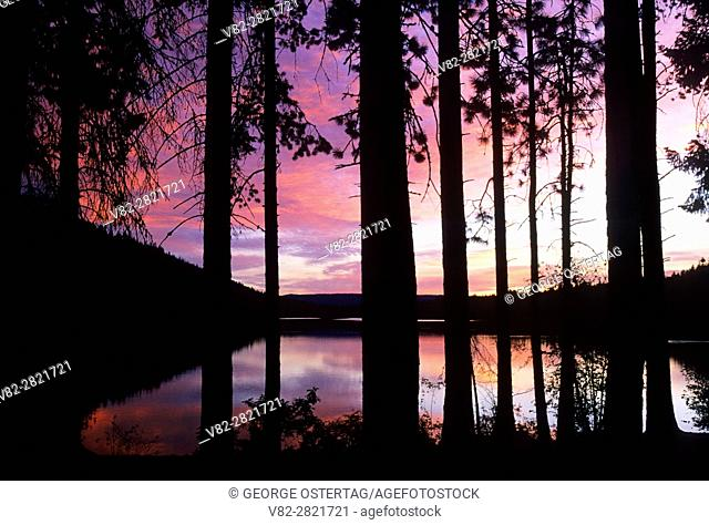 Sunrise on Suttle Lake, Deschutes National Forest, Oregon