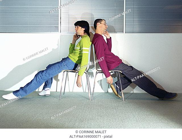 Slouching In Chair Stock Photos And Images Age Fotostock