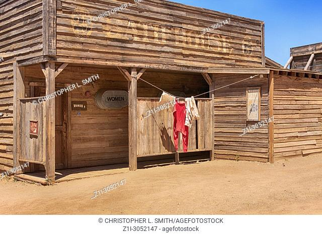 The Bath House where Dean Martin bathed in the movie El Dorado at the Old Tucson Film Studios amusement park in Arizona